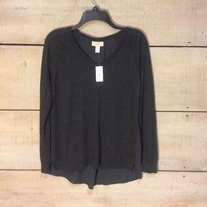 NWT Loft mixed media sweater